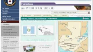 CIA World Factbook Demonstration.avi