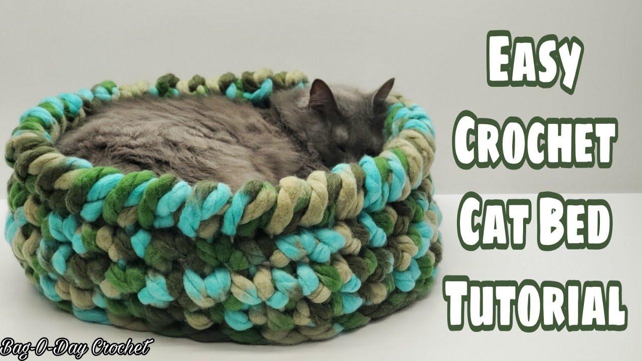 32 Crochet Cat Bed Patterns - Crochet News | 720x1280