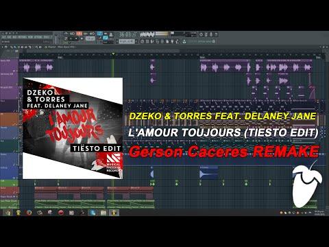Dzeko & Torres Feat. Delaney Jane - L'Amour Toujours (Tiesto Edit) (FL Studio Remake + FLP)
