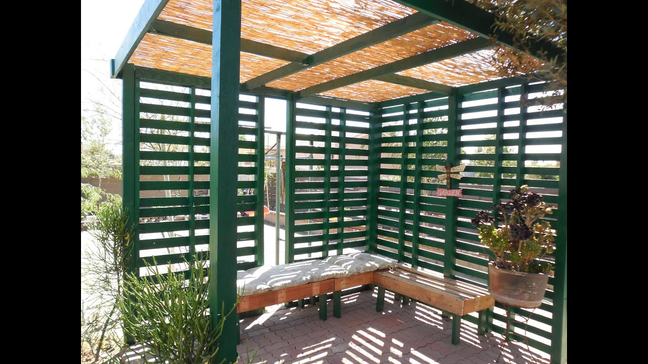 pallet patio/shade - youtube - Cheap Patio Shade Ideas