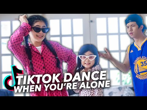 ME AT HOME Learning TikTok DANCE | Ranz and niana ft natalia