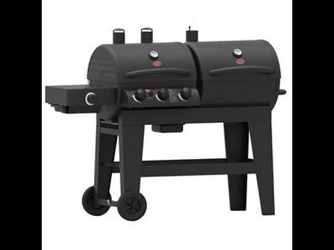 New Char Griller Dual Function 3 Burner Gas And Charcoal