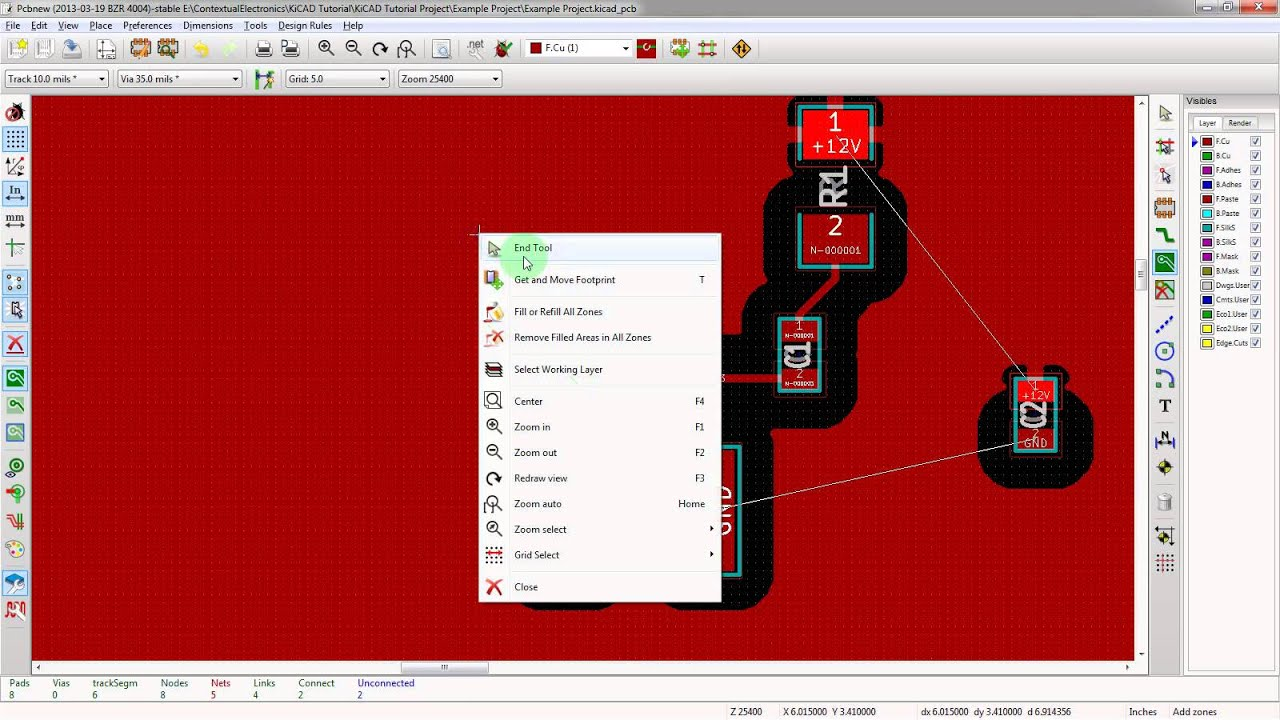 KiCad 3 0 - Creating Power and Ground Planes In KiCad