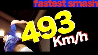 Guinness World Record 【Fastest Badminton Smash】 for right hand plyer image training