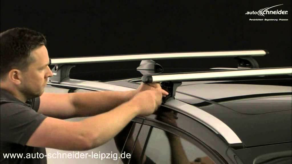 thule rapid fixpoint xt 753 integrierte dachreling youtube. Black Bedroom Furniture Sets. Home Design Ideas