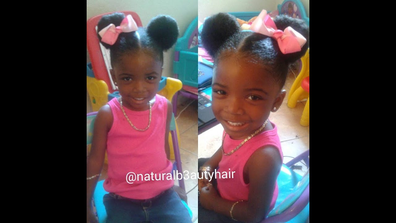 how to do minnie mouse ears on natural toddler hair - youtube