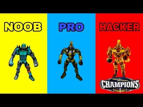REAL STEEL BOXING CHAMPIONSHIPS - NOOB VS PRO VS HACKER