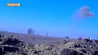 Уничтожение российского танка под Широкино (ненормативная лексика)