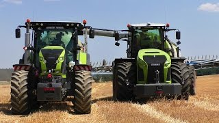 CLAAS XERION 4000 TRAC VC / Saddle Trac - Slurry Injection | Farming