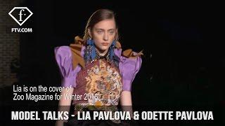 Video Model Talks Milan S/S 17 Lia Pavlova & Odette Pavlova | FashionTV download MP3, 3GP, MP4, WEBM, AVI, FLV Juni 2018