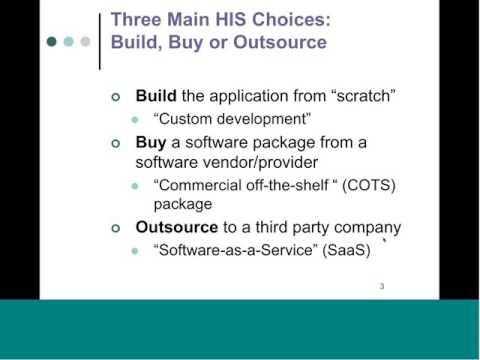 HIS Procurement: Key Decision Factors for Making the Buy versus Build versus Outsource Decision