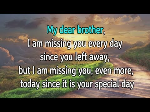 Happy Birthday In Heaven Brother Birthday In Heaven Wishes Youtube