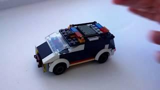 LEGO,вертоліт АН-64,поліцейський мікроавтобус,уткоробот