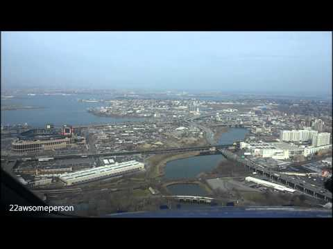 Landing At LaGuardia Cockpit View [HD]