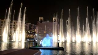 Dubai Burj Khalifa Fountain Show Festival Fire Water 2013 Дубай Бурдж Халифа Фонтаны
