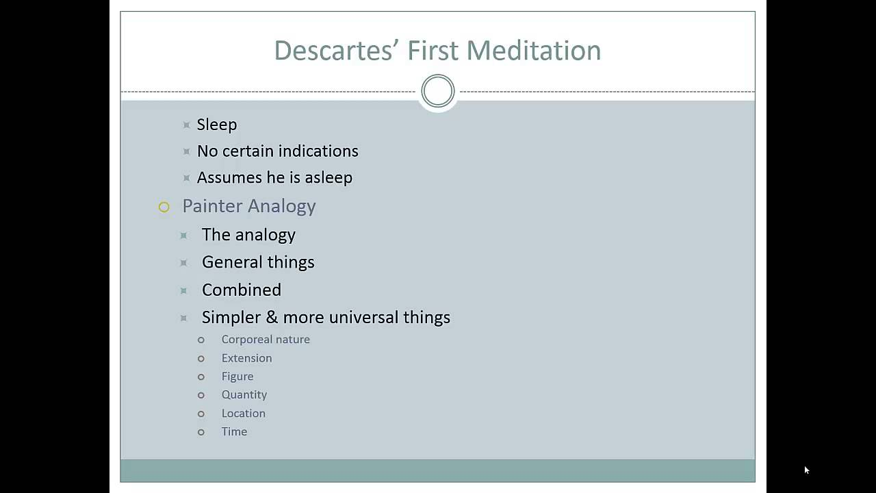 descartes meditations Librivox recording of meditations on first philosophy, by rené descartes after several years working on a treatise putting forth his mechanistic philosophy.