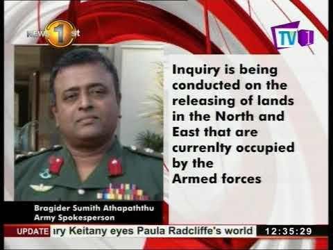 Sri Lankan army to inquire about releasing of lands in North and East