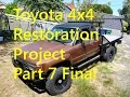 Toyota 4x4 Pickup to Flatbed Camper Conversion - Part 7