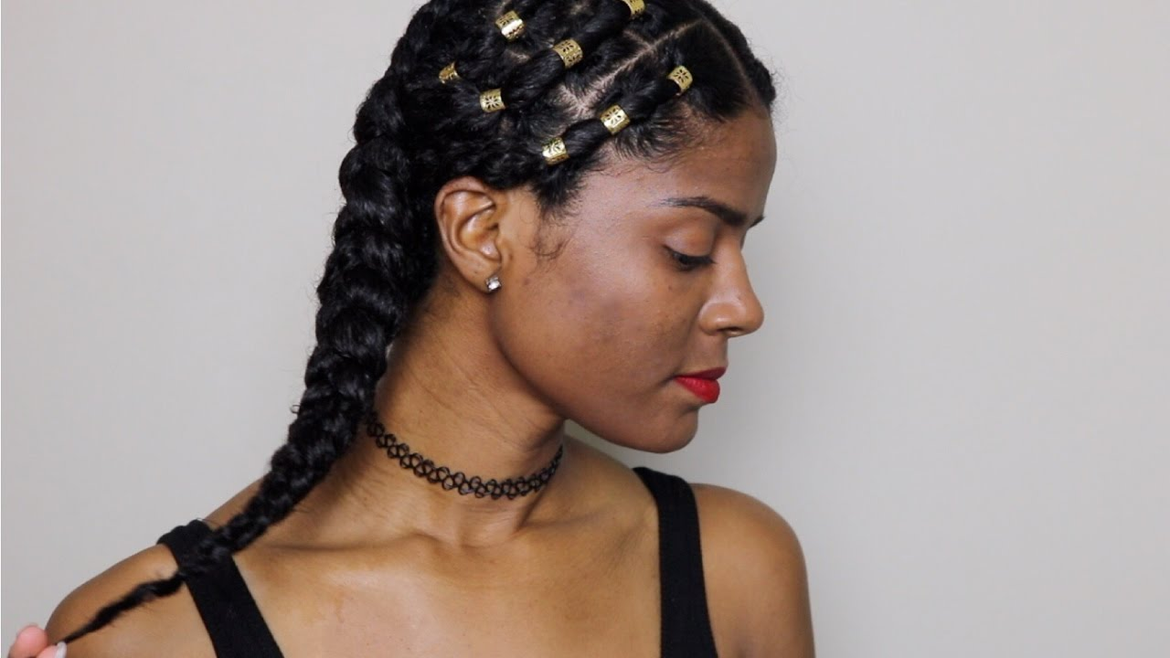 ALICIA KEYS INSPIRED HAIRSTYLE | (NO-ADDED HAIR) - YouTube