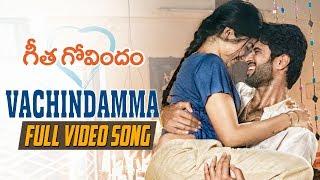 "Watch & enjoy ""#vachindamma"" full video song from #geethagovindam. geetha govindam starring #vijaydevarakonda rashmika mandanna. music composed by gopi sunda..."