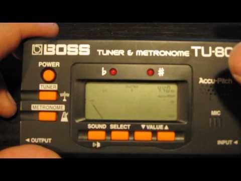 Tuning The Guitar - Using Digital Tuner