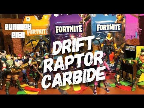 Jazzwares Fortnite Drift Raptor Carbide 4 Solo Mode Action Figure