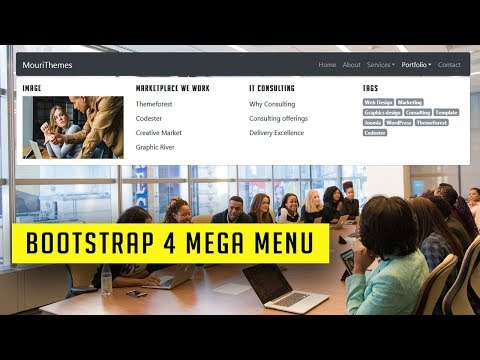 How to make a simple Bootstrap 4 mega Menu | Responsive bootstrap 4 mega menu