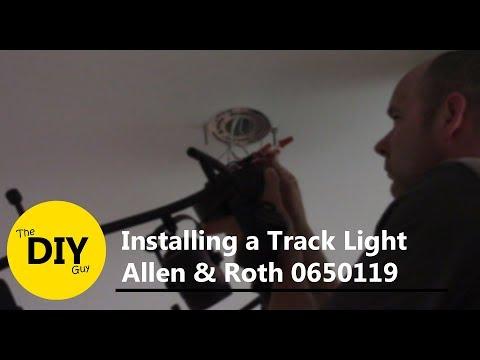 san francisco c1729 f624c Installing a Track Light Allen & Roth 0650119