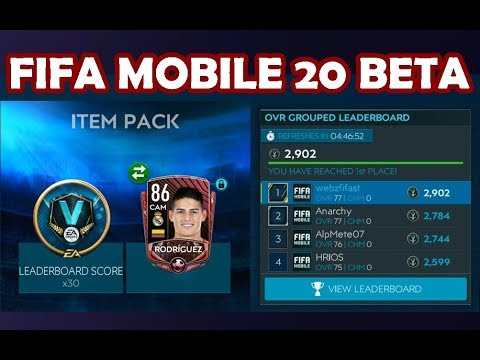 FIFA MOBILE 20 BETA (PART 2) | 1ST PLACE OVR GROUPED LEADERBOARD | MANY ELITE PULLED