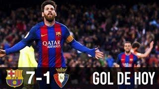 Barcelona 7 Osasuna 1 hoy || Doblete de Messi hoy