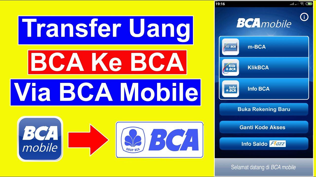 cara transfer uang sesama bca lewat bca mobile