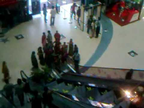First timers on escalator at Prasads Imax, Hyderabad