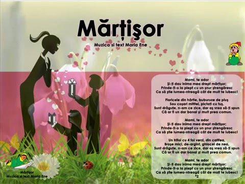 MĂRȚIȘOR (Mami, te ador…) – Cantece pentru copii in limba romana