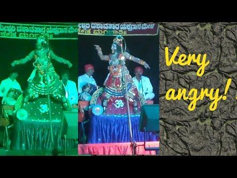 Very angry hanuman on naradh muni- yakshagana mandarthi mela