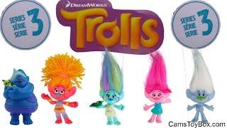 Dreamworks Trolls Blind Bags Series 3 Series 1 Egg Surprise Toys Opening Fun for Kids