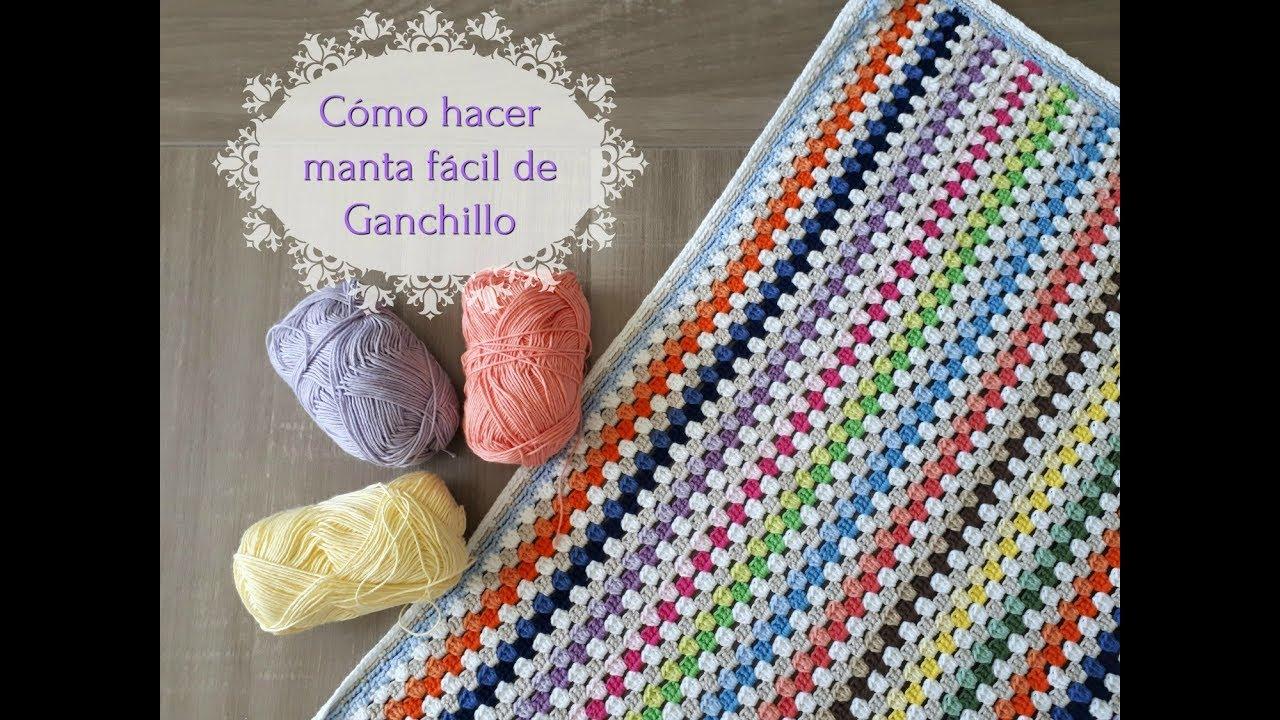 Cómo hacer una manta fácil de crochet, paso a paso. [Tutorial] - YouTube