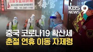 중국 코로나19 확산세…춘절 연휴 이동 자제 / KBS