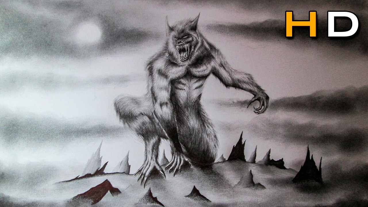 How to Draw a Realistic Werewolf with Pencil Step by Step ...
