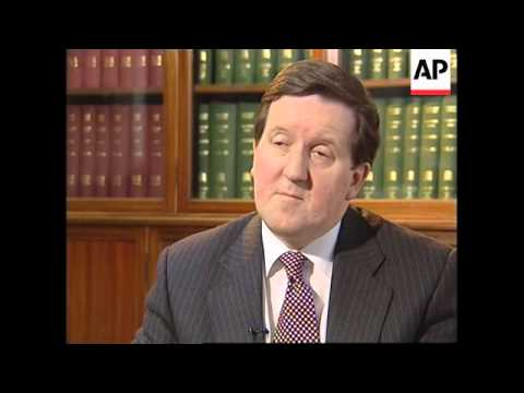 UK: NEW NATO SECRETARY GENERAL LORD ROBERTSON