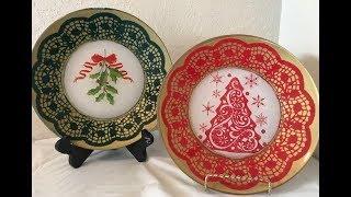Prato Decorado para Natal
