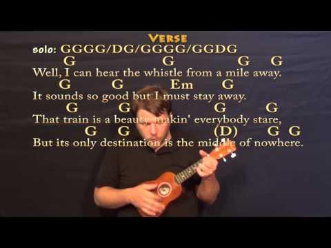 Long Black Train (Josh Turner) Soprano Ukulele Cover Lesson with Chords/Lyrics