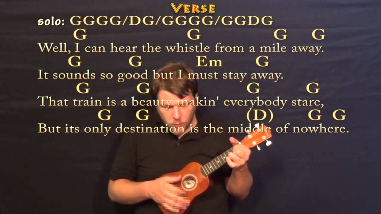 Long Black Train Josh Turner Soprano Ukulele Cover Lesson With