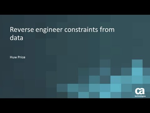 Use Data Visualization to reverse engineer constraints from your data