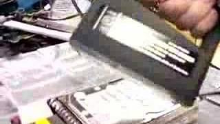 Erasing a hard drive with a tape eraser