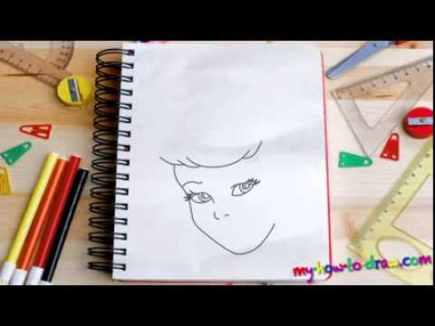How to draw Cinderella   Easy step by step drawing lessons for kids