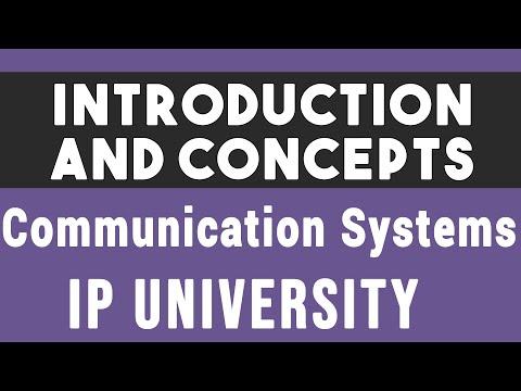 Intro And Concept   Communication Systems IP   IPU CS Communication System Semester 4 Unit 1 #01
