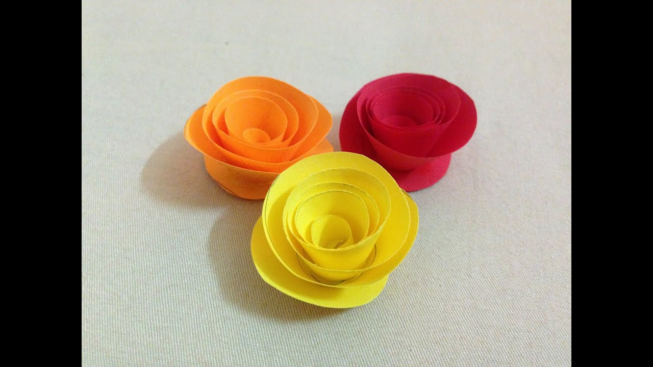 How To Make Small Rose Paper Flower Easy Origami Flowers For