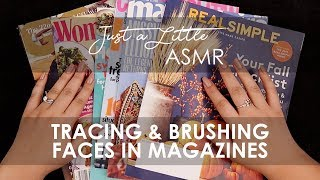 Ep. 28: Tracing & Brushing Faces in Magazines (ASMR page flipping, gentle tracing, whispering) - 🎧