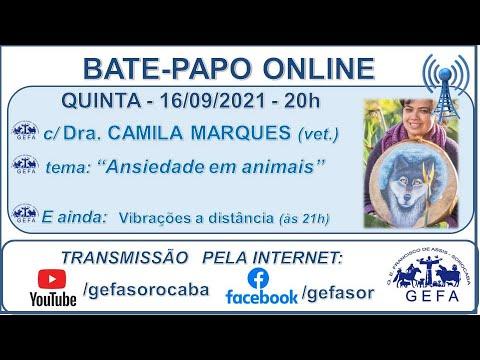 Assista: Bate-papo online - c/ CAMILA MARQUES (16/09/2021)