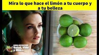 Mira lo que hace el limón a tu cuerpo y a tu belleza